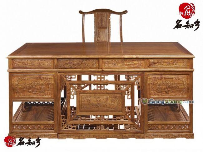 花梨木直脚办公桌         花梨木直脚办公桌尺寸: 材质 非洲花梨木